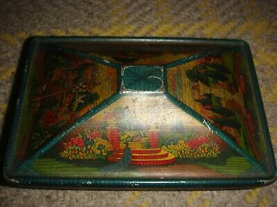 Vintage Rowntree Biscuit/ Sweet  Advertising Tin- Early 1900s Garden Scene  • 12.50£