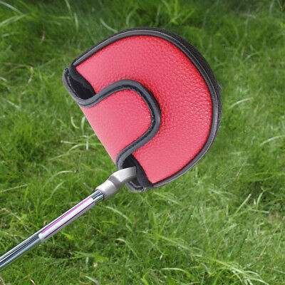 AU17.38 • Buy PU Leather Gift Portable Unisex Golf Clubs Mallet Putter Cover Magic Clasp