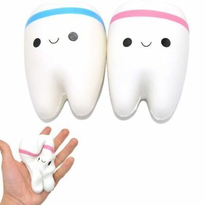 AU9.95 • Buy Teeth Stress Toy Jumbo Squishy Relief Toy Rising Slow Squeeze Kids Gift Squishys