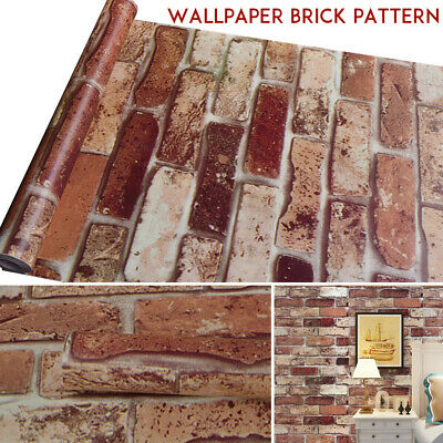 $10.62 • Buy 10M 3D Wallpaper Brick Pattern Self-adhesive Roll Stone Stickers Décor For Home