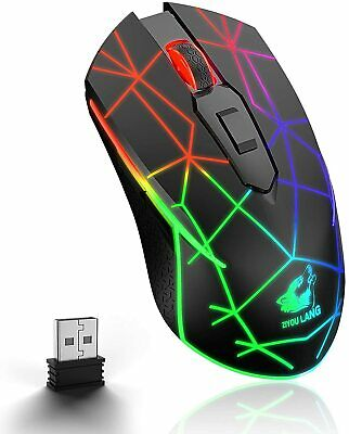 AU24.60 • Buy LED Wireless Gaming Mouse USB Ergonomic Optical For PC Laptop MAC Rechargeable