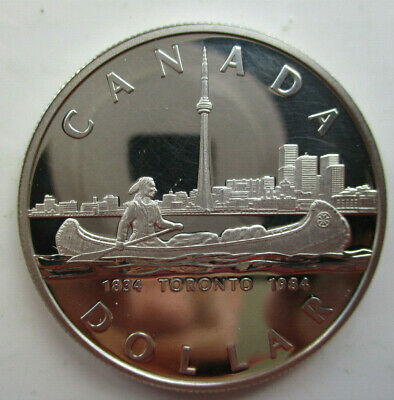 Canadian Silver DOLLAR Proof 1 Dollar - Elizabeth II Toronto 1984 • 15£