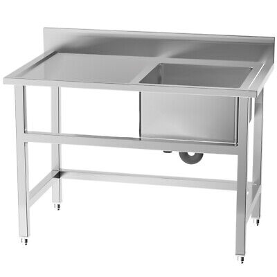 £229.95 • Buy Stainless Steel Commercial Sink Wash Table Kitchen Catering Single Sink Bowl UK