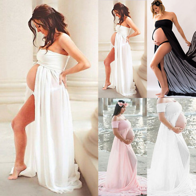 AU37.29 • Buy Women's Maternity Dress Pregnant Summer Maxi Gown Photography Beach Sexy Dresses