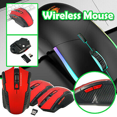 AU13.47 • Buy AU Wireless Gaming Mouse Game Silent Optical 2.4GHz Rechargeable For Laptop PC