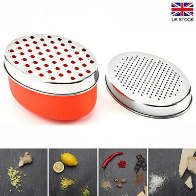 £5.99 • Buy Kitchen Cheese Grater With Container Storing Fruits Cheese Box Stainless Steel