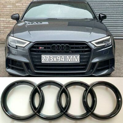 £8.68 • Buy Front Honeycomb Grille Sport Gloss Black Badge Emblem For Audi A3 S3 A4 S4 A5 A6