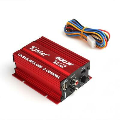$16.55 • Buy MA-150 DC9-14V 2-CH Mini Hi-Fi Stereo Audio Amplifier Amp Subwoofer Car Home RED
