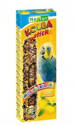 2x Stick For Parakeet With Dandelion Bird Food Budgie Parrots 85g Canaries Seed • 1.75£