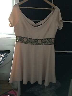 AU26.83 • Buy BNWT New Look Size 18 Pink Stretch Off Shoulder Dress (D15)