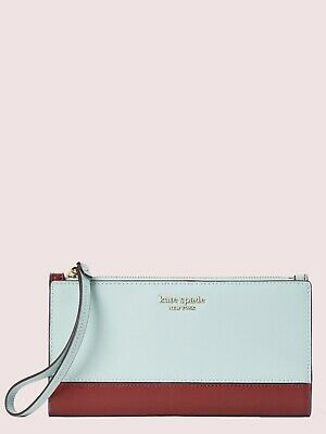 $ CDN84.92 • Buy Kate Spade Spencer Continental Wristlet Zip Top Parchment Wallet Leather