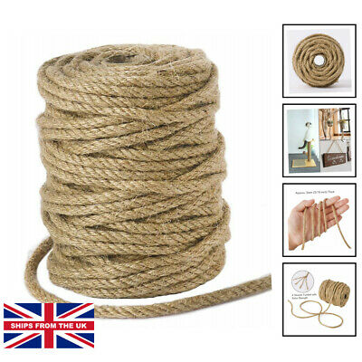 £14.99 • Buy 5mm Jute Rope, 100 Feet Twisted Thick Jute Twine String For DIY Cat Scratcher...