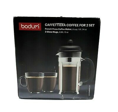 CAFFETTIERA COFFEE French Press For 2 Set Distressed Box New Items  • 12.51£