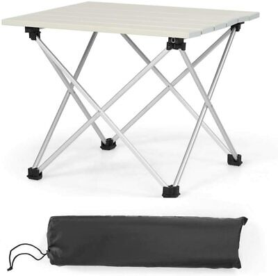 £19.99 • Buy Portable Folding Camping Table Aluminum Lightweight Roll Up Table Carrying Bag