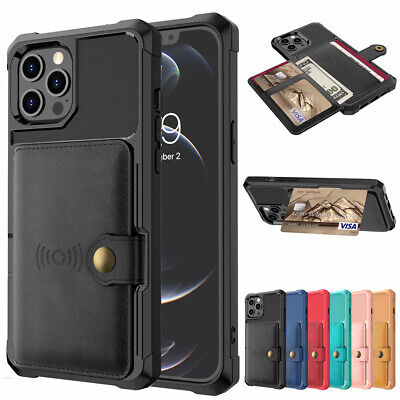AU12.99 • Buy For IPhone 12 Pro Max 11 7/8 Xr Xs Leather Wallet Card Slot Back Case Flip Cover