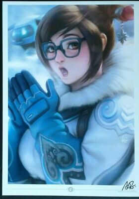 AU20.58 • Buy Artgerm Blizzard Overwatch Mei Sdcc 2016 Art Print Signed A3 New