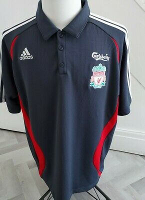 GENUINE  Men's OFFICIAL  Liverpool FC Polo  T Shirt    / XL UK ADIDAS 44-46 • 16.99£