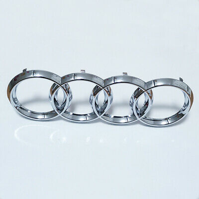 £8.95 • Buy Chrome Silver Front Grille Badge Emblem Rings Logo Audi A1 A3 S3 A4 S4 A5 273mm
