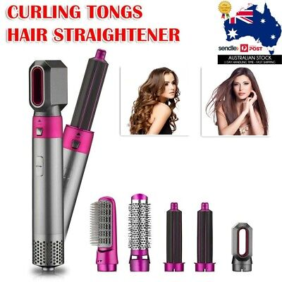 AU98.99 • Buy 5In1 Hair Dryer Rotating Straightener Comb Curling Brush Styling Pro Tool Kit AU