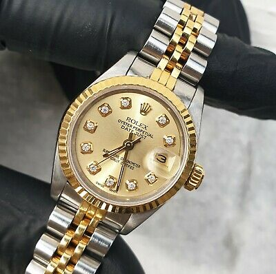$ CDN6809.79 • Buy Ladies Steel & Gold Rolex Datejust With Champagne Diamond Dial - Rolex Paper