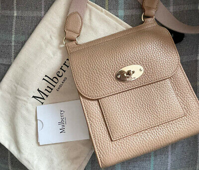 Authentic Mulberry Beige/Camel/Salmon Small Antony Messenger Bag Satchel Anthony • 375£