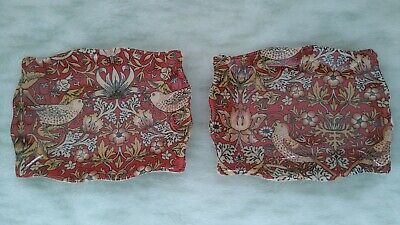 £12 • Buy Heron Cross Pottery X 2 Spoon Rests William Morris Des In Red 'strawberry Thief'