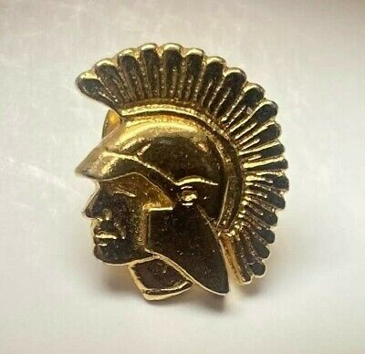 $4.95 • Buy ROMAN MILITARY SOLDIER Tie Tack Or Lapel Pin ~ Helmet Or Headdress ~ GOLD TONED