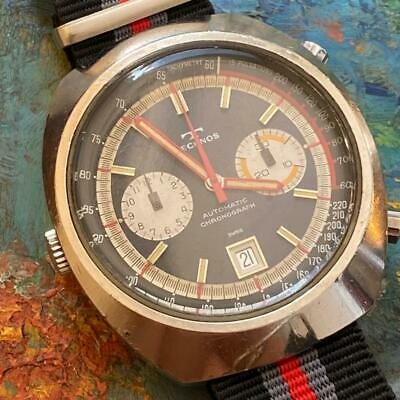 $ CDN1692.88 • Buy Heuer Montreal Cal. 12 Technos Vintage Chronograph Watch 100% Genuine 1970's