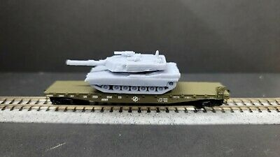$4.99 • Buy M1A1 Abrams Tank With Moveable Turret 1:160 N Scale Resin Ready For Paint