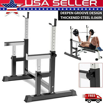 $ CDN154.24 • Buy Barbell Rack Adjustable Squat Stand Dip Station Weight Bench 550LBS Squat Rack
