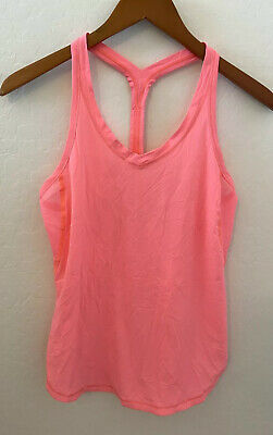 $ CDN48.37 • Buy LULULEMON Fast Lane Singlet Tank Top In Flash Light Size 4 Mesh