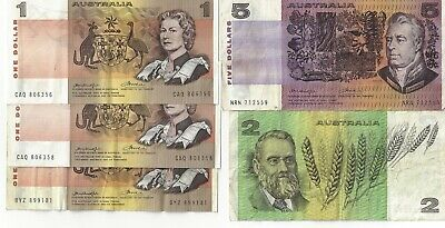 AU9.01 • Buy Australia $5 $2 And $1 Dollar Banknotes Old