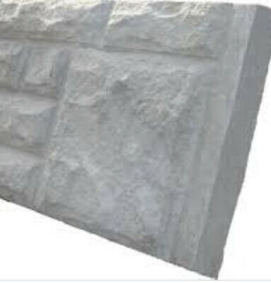£13 • Buy Newly Cast 12inch Gravel Board Plain And Rockfaced