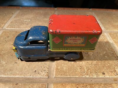 $ CDN12.70 • Buy Vintage Wyandotte Railway Express Delivery Truck - Pressed Steel Tin Litho