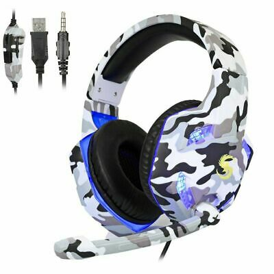 AU22.08 • Buy 3.5mm Gaming Headset Headphone For PC Mac Nintendo Switch Laptop PS4 Xbox One-AU