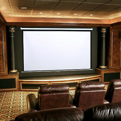£75.95 • Buy Wall Mounted Ceiling Pull Down Projection Screen 100  Manual Screens Home Cinema