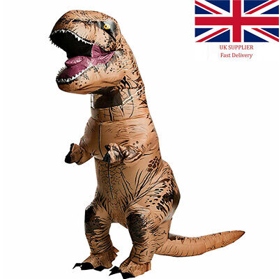 £35.99 • Buy For Adult Kids T-REX Dinosaur Inflatable Costume Suit Outfit For Party Cosplay
