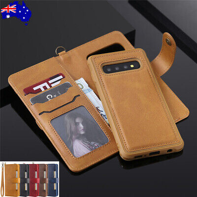 AU17.99 • Buy For Samsung S20+ Ultra Note 20 S10 Plus Case Wallet Removable Leather Flip Cover