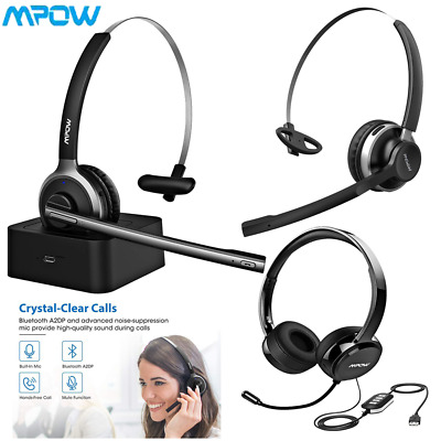 £26.99 • Buy Mpow Bluetooth Headset Wireless Wired Headset Headphones For PC Call Center UK