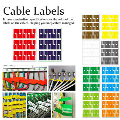 £6.36 • Buy Waterproof Cord Management Synthetic Paper Cable Label For Printer Self