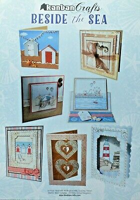 £3.50 • Buy Beside The Sea Kanban Crafts Kit Toppers/Backing Card FOILED & Die Cut