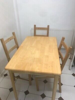 £35 • Buy Ikea Wooden Dinning Table And 4 Chairs