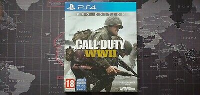 £22.99 • Buy Call Of Duty WWII World War 2 PS4 Pro Steelbook Edition MINT COND (NO DLC)