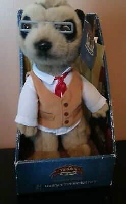 £4.24 • Buy Yakov Meerkat Compare The Market Soft Toy In Box With Certificate