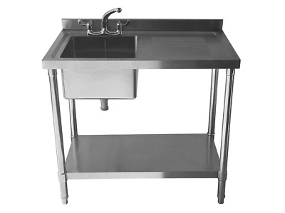 £369 • Buy Commercial Stainless Steel Sink - Single Bowl - 1000mm - Right Hand Drainer