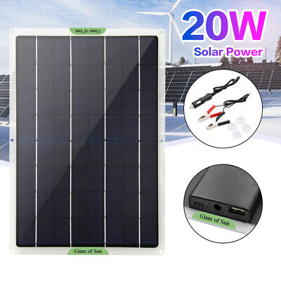 AU44.05 • Buy 5W-20W Solar Panel 12V Trickle Charge Battery Charger Kit Maintainer Boat/Car
