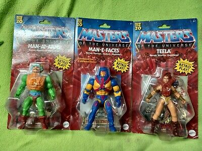 $69 • Buy Masters Of The Universe Origins Lot Of 3 Man-e-faces Teela Man-at-arms 2020