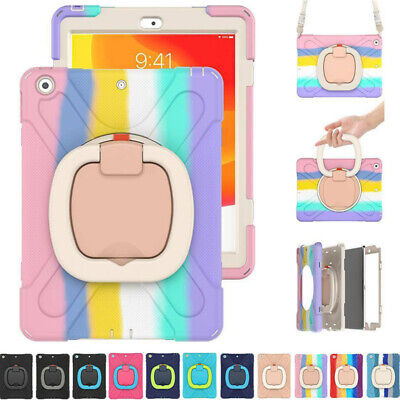 AU30.59 • Buy For IPad 5 6 7 8th Gen 10.2 2020 Heavy Duty Shockproof Rotating Strap Case Cover