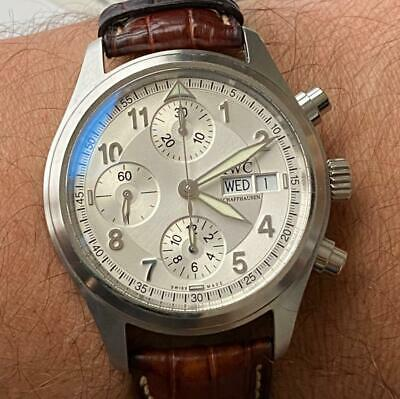 $ CDN1844.03 • Buy Iwc Schaffhausen Flieger Spitfire 3706 Vintage Chronograph Watch 100% Genuine