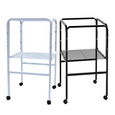 £19.99 • Buy Bird Cage Stand Tubular Steel With Shelf Casters For 40x 40cm Base Flight Cages